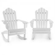 Blumfeldt Rushmore, alb, set de 2 scaune de grădină, Adirondack, 71X95X105 cm (PL-RushmoreWH-Set)