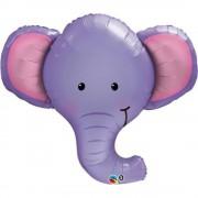 Balon folie figurina cap de elefant, Qualatex 17116