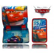 WD16174 Kit zaino scuola CARS estensibile con portapastelli 3 scomparti SAETTA Disney
