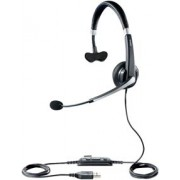 Jabra UC Voice™ 550 MS Mono, Noise-Cancelling, Wideband, Microphone boom: flexible, intuitive Call-Control buttons, Plug-and-Play and travel case, Microsoft optimized