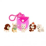 Puppy In My Pocket, 6 pieces, Clip-On Pouch and 5 cute puppies