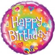 Balon Folie 45 cm Birthday Bright, Qualatex 16810