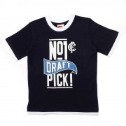 AFL Toddler Draft Pick Tee Carlton Blues [Size:1]