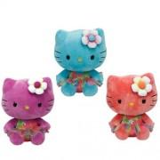 Ty Beanie Babies Hello Kitty - rosa, turquesa y púrpura Juego de 3 Peluches - Rose, Turquoise and Purple Set of 3 Plush Toys