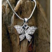ketting vlinder hanger zilverkleur 016VK08