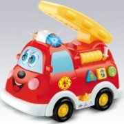 Fire Truck Engine With Lights, Sound And Bump And Go Action