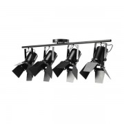 Maisons du monde Lampada sospesa 4 spot orientabili in metallo nero L 103 cm HOLLYWOOD
