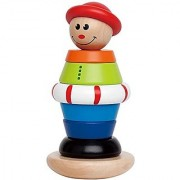 Hape - Early Explorer - Stacking Jack Wooden Ring Toy