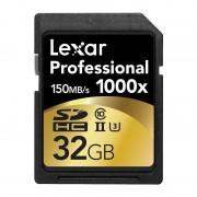 Card Lexar Professional 1000x SDHC 32GB Clasa 10 UHS-II 150MB/s