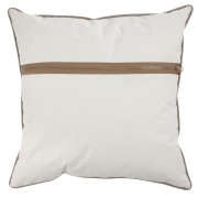 Kussen rits outdoor polyester wit 45x45cm