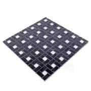 Mozaic Marmura Black and White Polisata