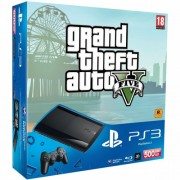Consola SONY PS3 Super Slim 500 GB + joc Grand Theft Auto V PS3