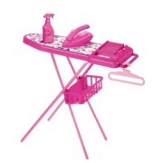 Faro Barbie Metal Ironing Board With Iron And Accessories