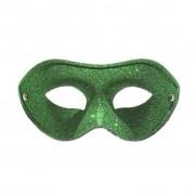 Basic Green Glitter Masquerade Mask