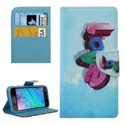 Colorful Three-dimensional LOVE Pattern Horizontal Flip Leather Case with Holder & Card Slots & Wallet for Samsung Galaxy J2 / J200