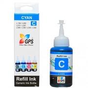 Gps Compatible Ink For Epson Printer L200 / L210 / L300 / L350 / L355 / L550 [ Cyan colors ] COMPATIBLE 75gms. 1 bottles.
