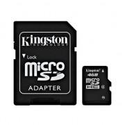 Tarjeta MicroSDHC 4GB Clase 4 Kingston con Adaptador