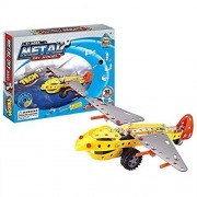Easy Gift Aircraft Metal Models Block Kits Construction Set Educational Toy Gifts For Kids(92 Pcs)