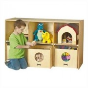 Jonti-Craft See-n-Wheel Shelf 6 Compartment Cubby 3925JC