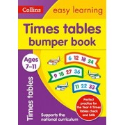 Times Tables Bumper Book Ages 7-11 by Collins Easy Learning