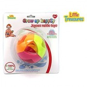 Grow Up Happily Joyous Rattle Toys - 100% safe and non-toxic; colorful sphere with a ball in the center that rattles as the newborns shake the toy in their tiny hands producing cute little laughs