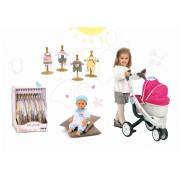Smoby cărucior de jucărie Maxi Cosi & Quinny şi păpuşă cu hăinuţe Baby Nurse 550192A-4