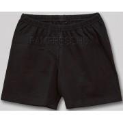 Pamut rövidnadrág - fekete, sztreccs