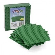 Brick Building Base Plates By Scs - Small 5X5 Green Baseplates (10 Pack) - Tight Fit With Lego