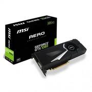 MSI GeForce GTX 1080 Aero 8G Oc Scheda Grafica, Interfaccia PCIe 3.0, 8 GB GDDR5X, 256bit, 2560 Cuda Cores, Nero