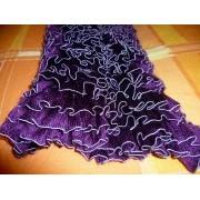 sciarpa ai ferri acrilico - viola