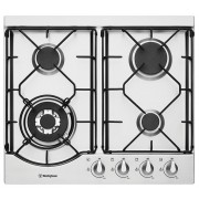 Westinghouse WHG642SA 60cm stainless steel gas cooktop