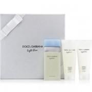 Dolce&Gabbana Light Blue Комплект (EDT 100ml + BL 100ml + SG 100ml) за Жени