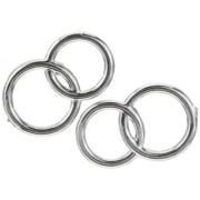 Gütermann / KnorrPrandell 6940242 - Doppi anelli 25mm, confezione da 2, colore: Argento