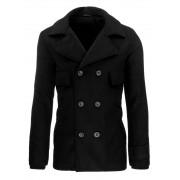 Pánský přechodový kabát značkový 0319 dvouřadový černý - XL