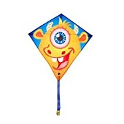 Invento 100122 Eddy Frank Monster, from 5 years old, 68 x 68 cm And 2 m Line Children's Kite Dragon Kite Tail Ripstop Polyester 2-5 Beaufort