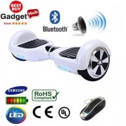 "6.5"" Racing White Bluetooth Segway Hoverboard"