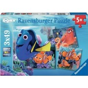 Finding Dory puslespil 3x49p (Ravensburger 009345)
