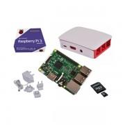 Kit Raspberry Pi 3 Modelo B - Caja Roja-Blanca