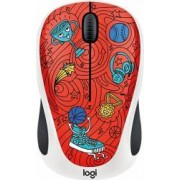 Mouse Wireless Logitech M238 Doodle Collection CHAMPION CORAL USB