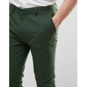 ASOS Super Skinny Smart Jogger In Dark Green - Green
