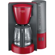 Кафемашина шварц Bosch TKA6A044, 1200 W, 1.25 л, Сива/Червена