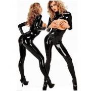 Catsuit s otvory na prsa a dvoucestným zipem