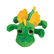 Suki Gifts Little Peepers Dragons Inferno Dragon Soft Boa Plush Toy (Green and Yellow, Small)