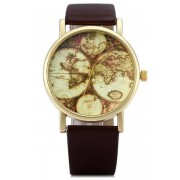 Zaful Map Print Watch