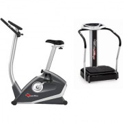 Powermax Fitness Great Combo Offer BU-620 Exercise Bike + VP-500 Crazy Fit Massager