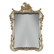 "Miroir ""Château"" en feuille d'or"
