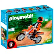 Playmobil Enduro Motorcycle with Rider, Multi Color