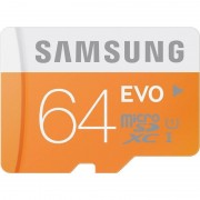 Card Samsung microSDXC Evo 64GB Class 10 UHS-1 cu adaptor SD