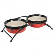 Set 2buc Castron Ceramic In Suport 250ml/12.5cm 24790