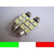COPPIA LAMPADINE C5W 6 LED SILURO 39mm WHITE 5000K K25